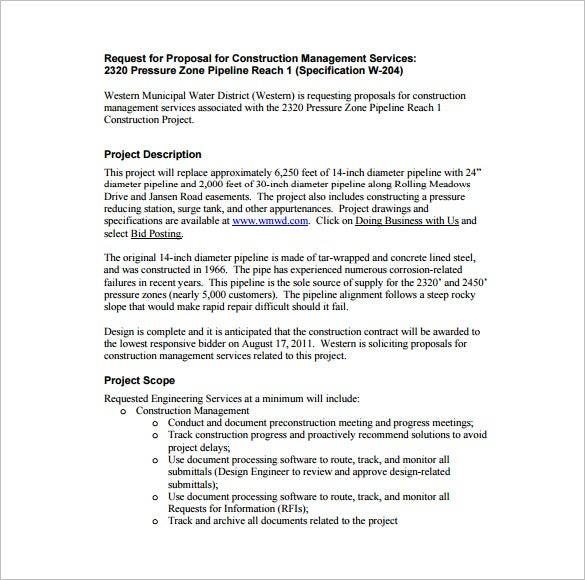 tender document template for construction