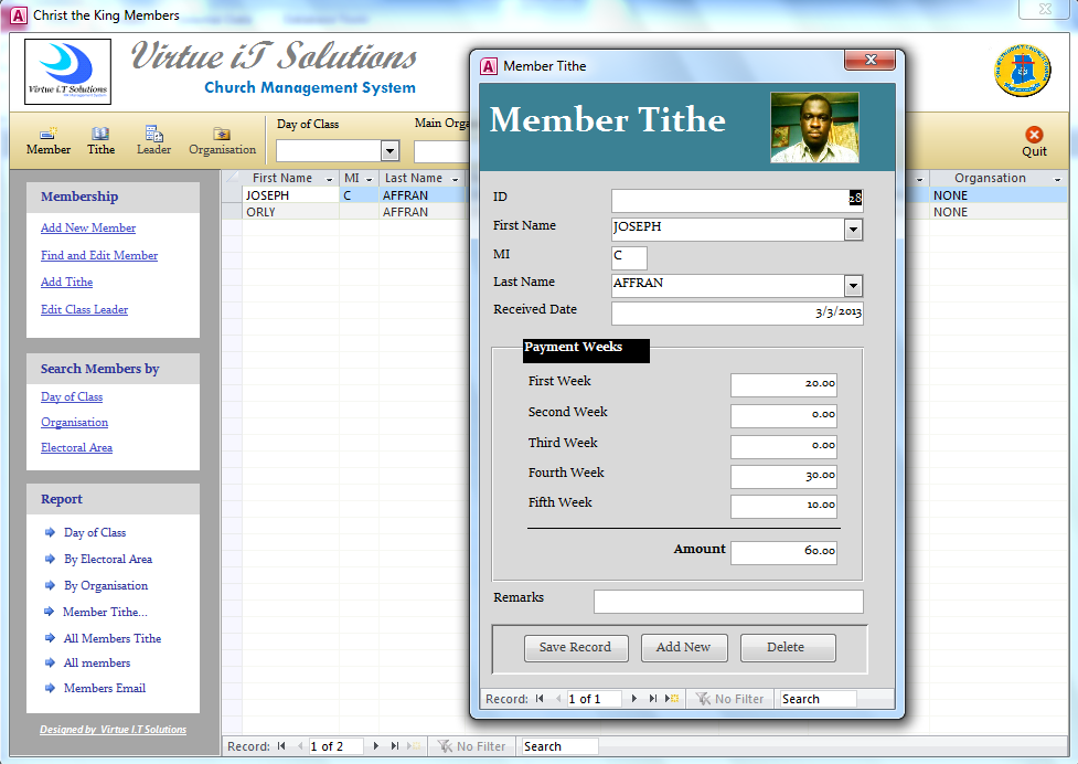 church management system documentation