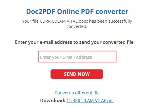 convert excel document to pdf free