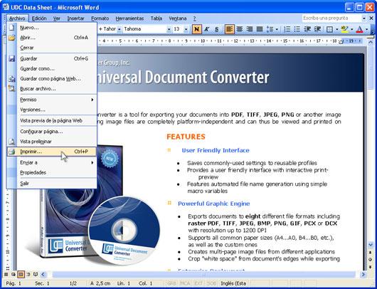 convert word document to tiff