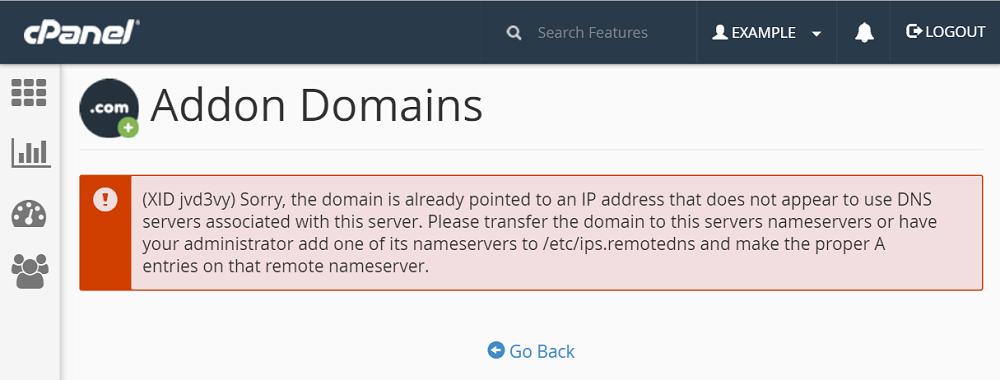 cpanel documentation addon domains