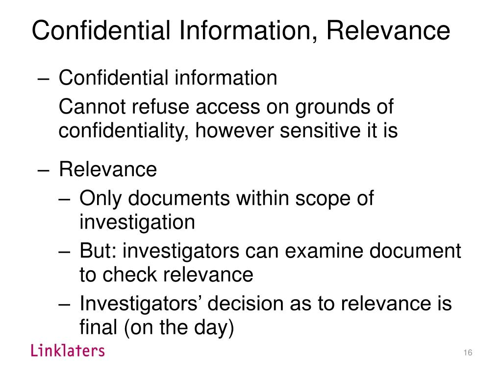 i a confidential communication i.e a communication or document that