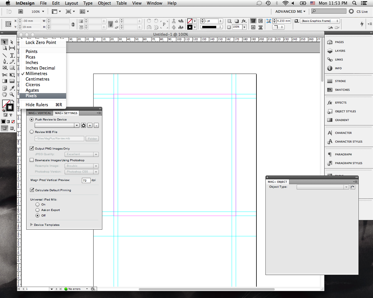 indesign document transparency blend space