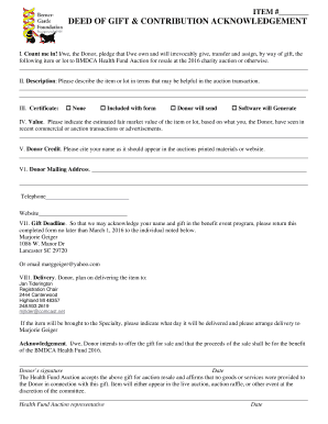 deed of gift word document