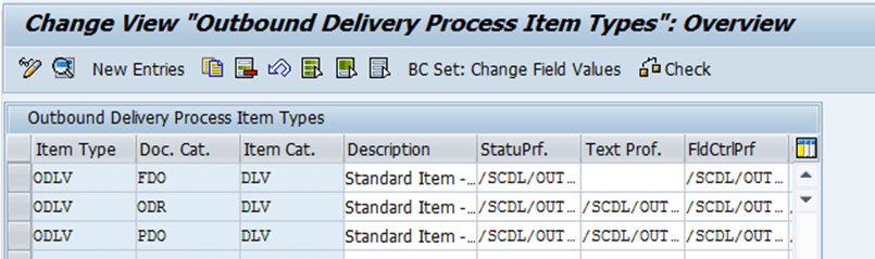 document category for delivery in sap
