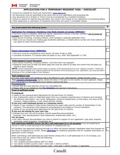 document checklist for india entry visa