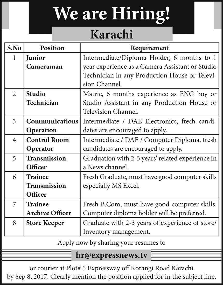 document controller jobs in pakistan