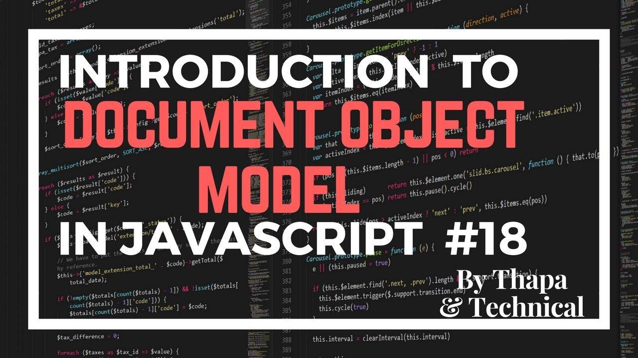 document object model in javascript