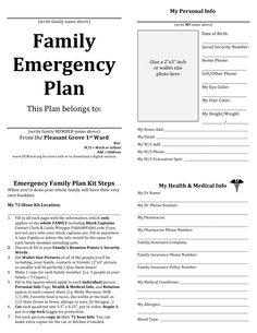 document the procedures for an emergency situation