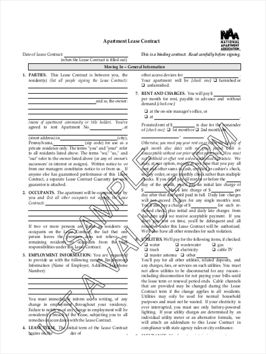 documentation required for exclusive leasing