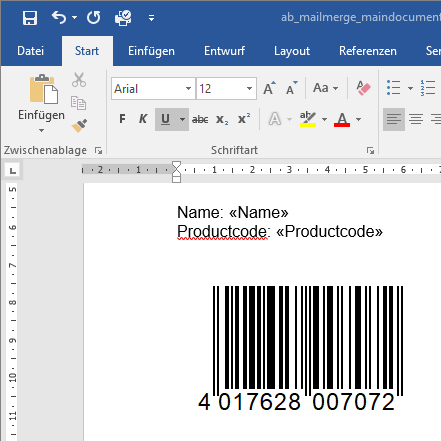 embed a word document into excel cell