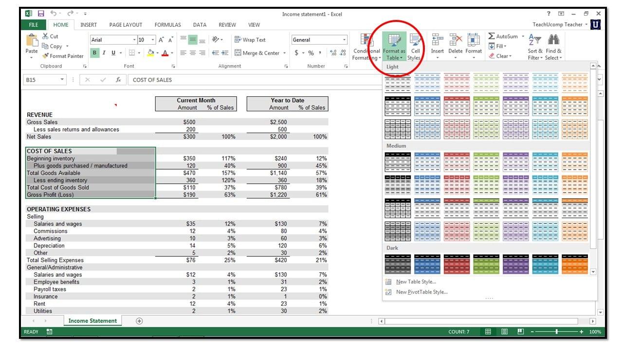 excel 2013 insert document property