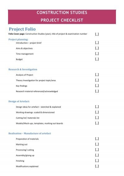 checklist construction project word document