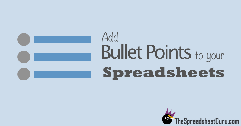 how to insert bullets into a word document