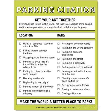 fake parking ticket word document