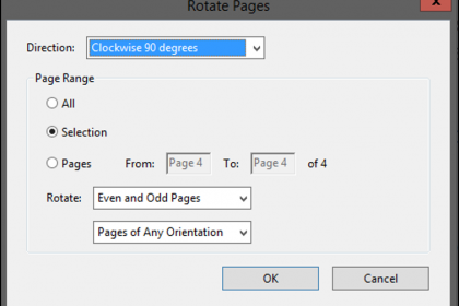 how to rotate acrobat document