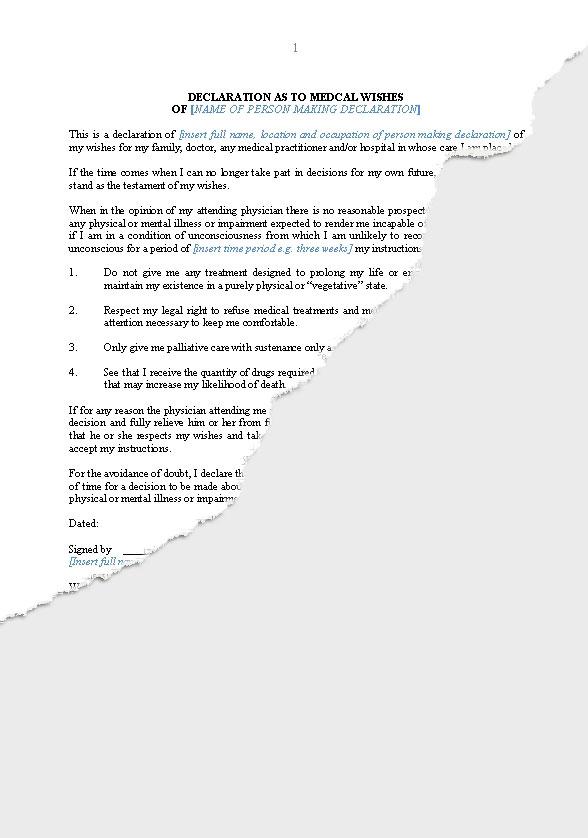 free declaration of trust document