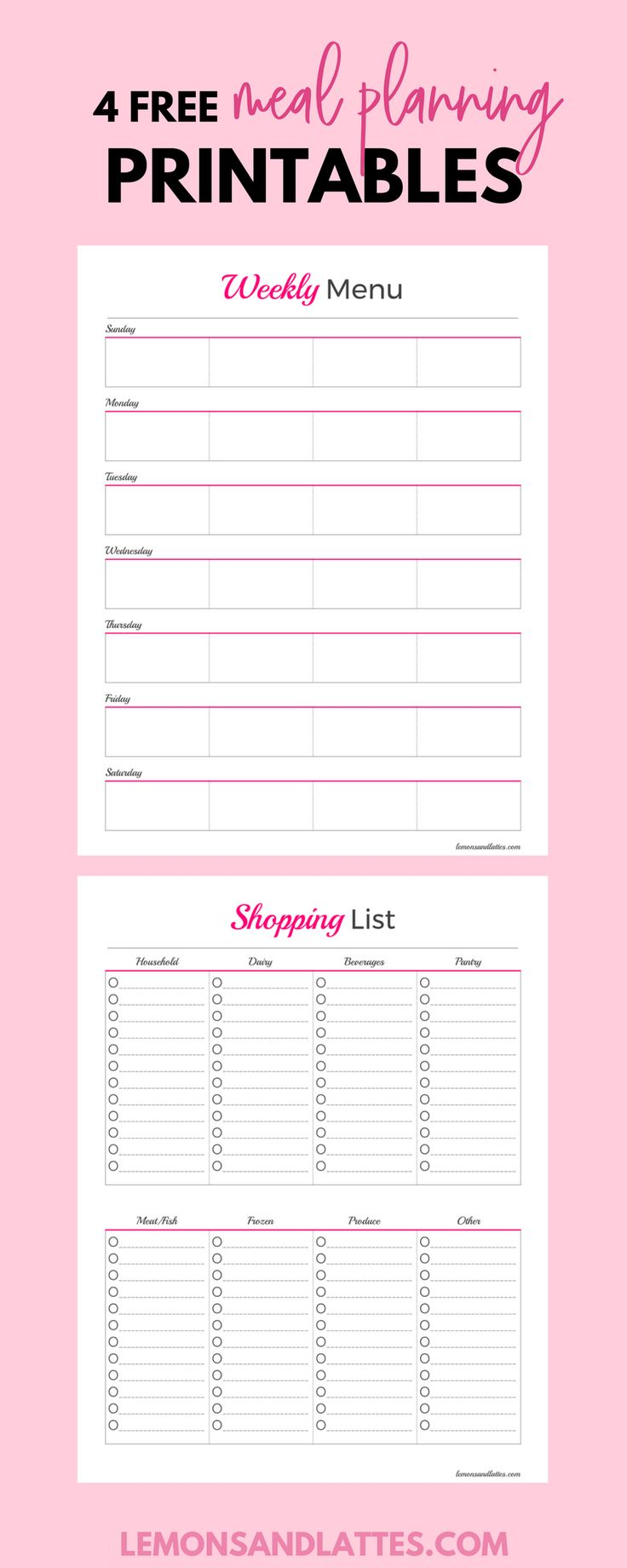 grocery list template word document