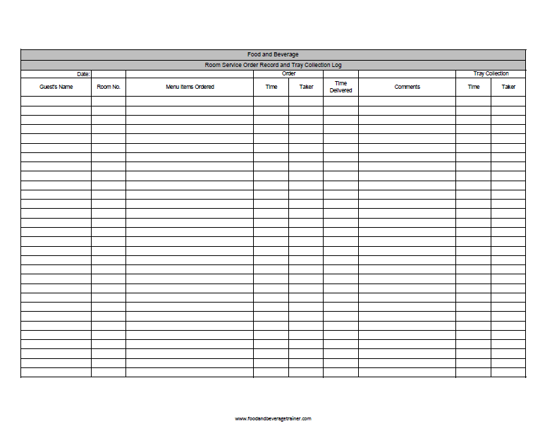 housekeeping action plan word document