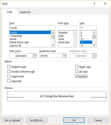 how to check document for correct layout