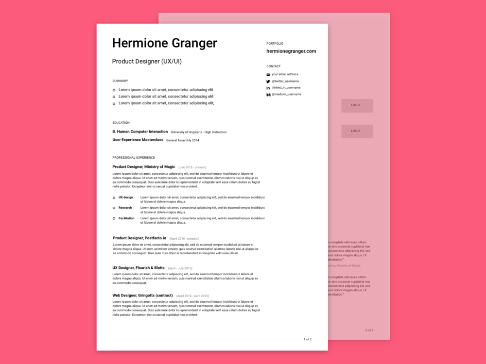 how to create a simple design document