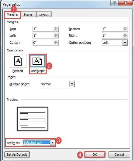 how to create the next page on word document