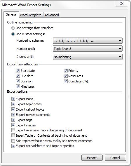 how to export word document fu ile
