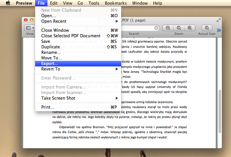 how to make a document pdf on mac