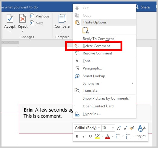 how to print a word document without track changes