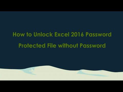 how to unlock excel document
