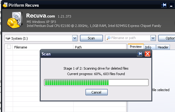 how to use recuva to recover deleted document