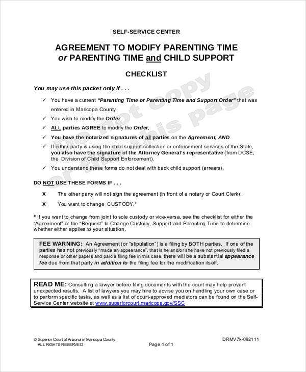 is a parenting plan a legal document