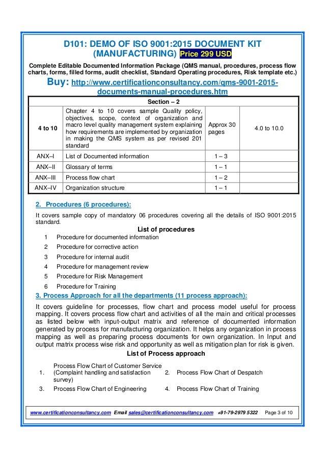 iso 9001 2015 document control