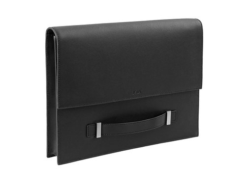 leather document case with handle
