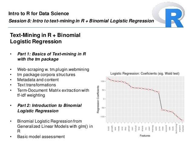 logistic regression over tm document term matrix