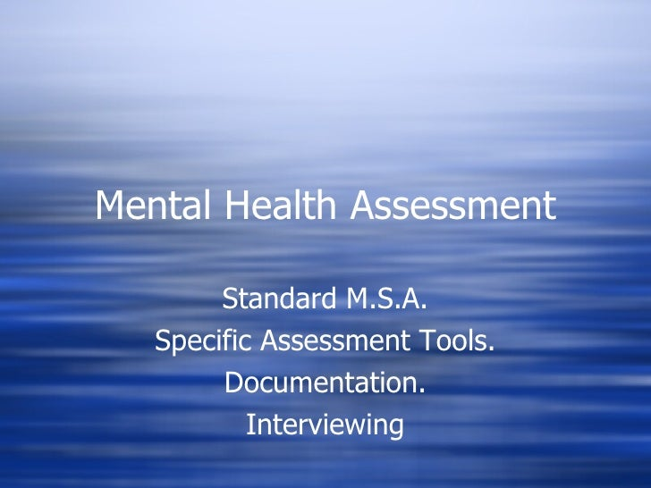 mental health nursing documentation examples