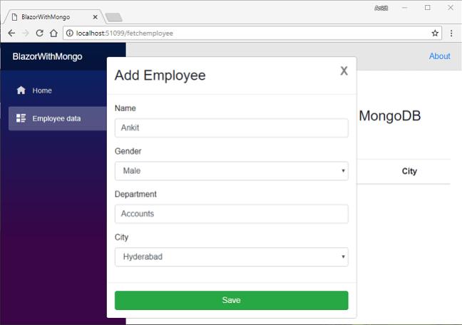 mongodb add list in document