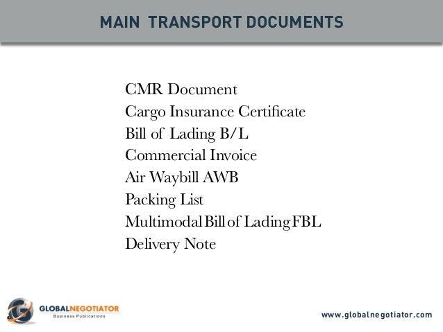 multimodal transport document bill of lading tracking