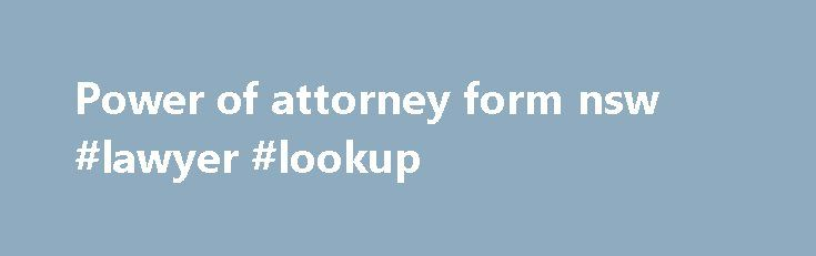 nsw how to change power of attorney document