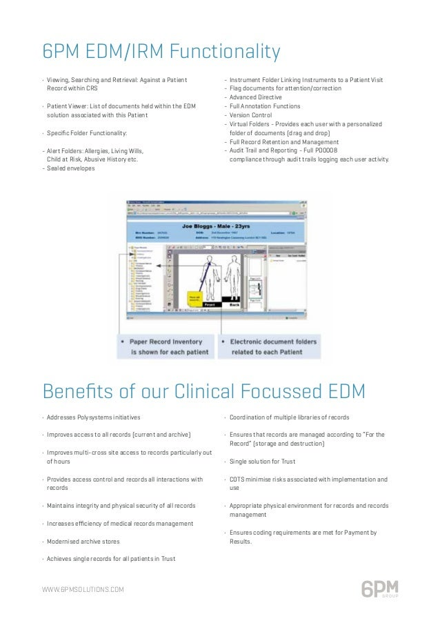 objective our electronic document and records management system