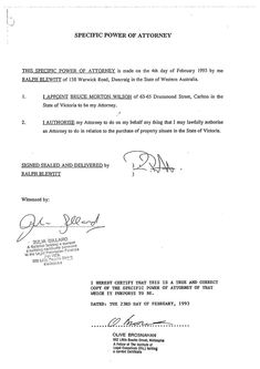 power of attorney sample letter word document