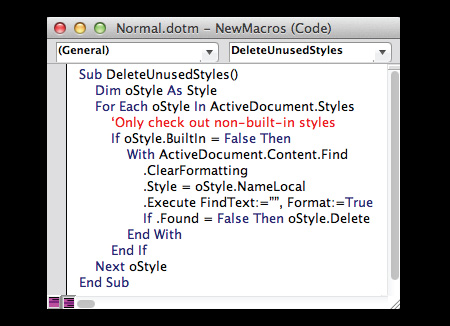remove macro from word document