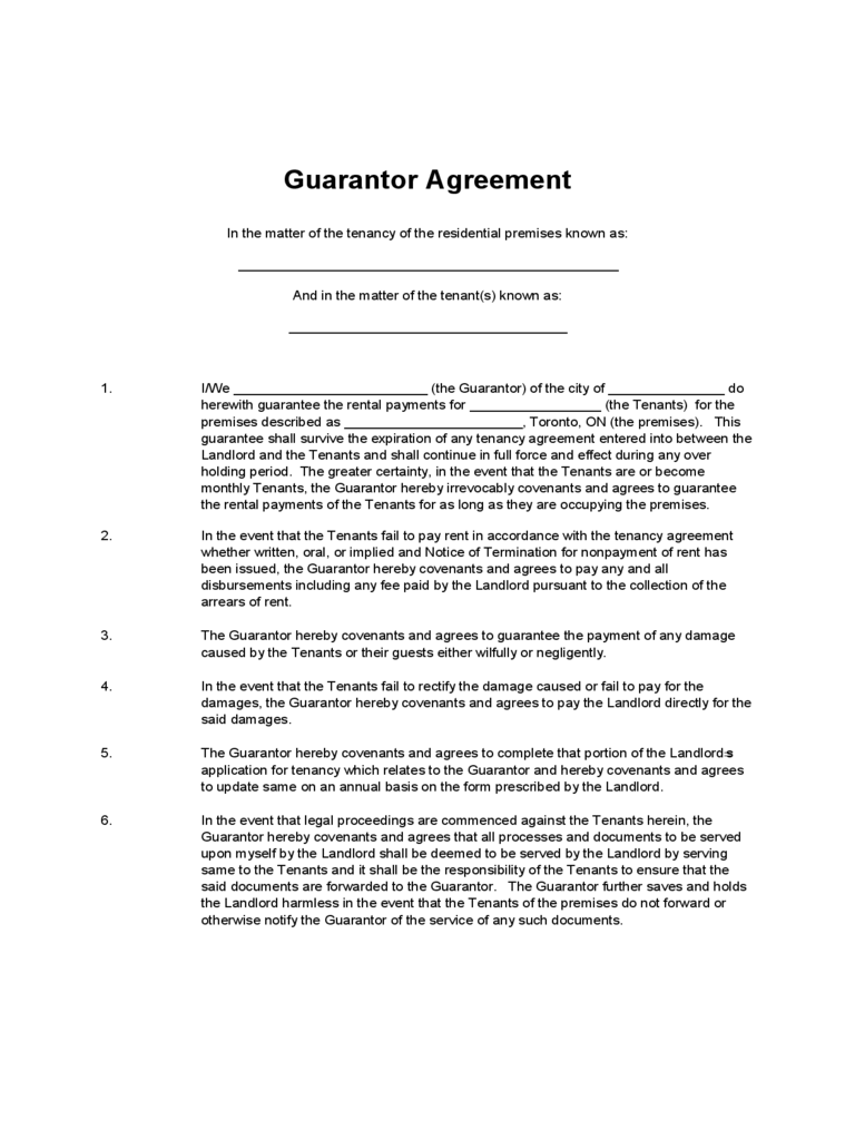 residential tenancy agreement form word document