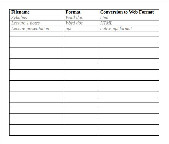 running record sheet word document