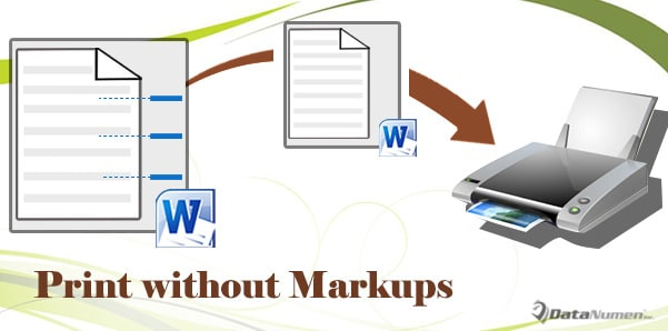 saving word document without markup