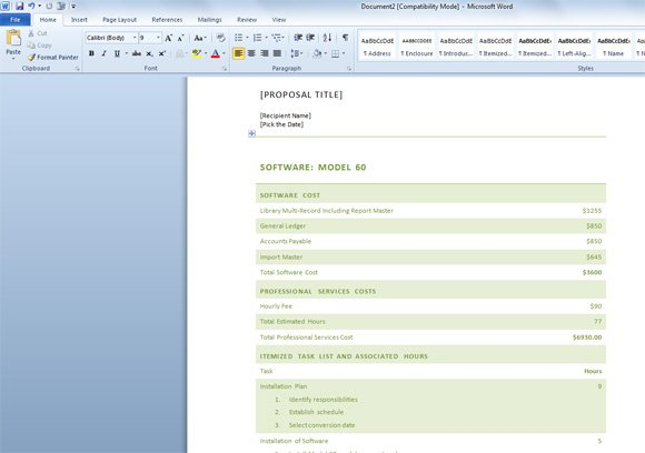software project proposal document template