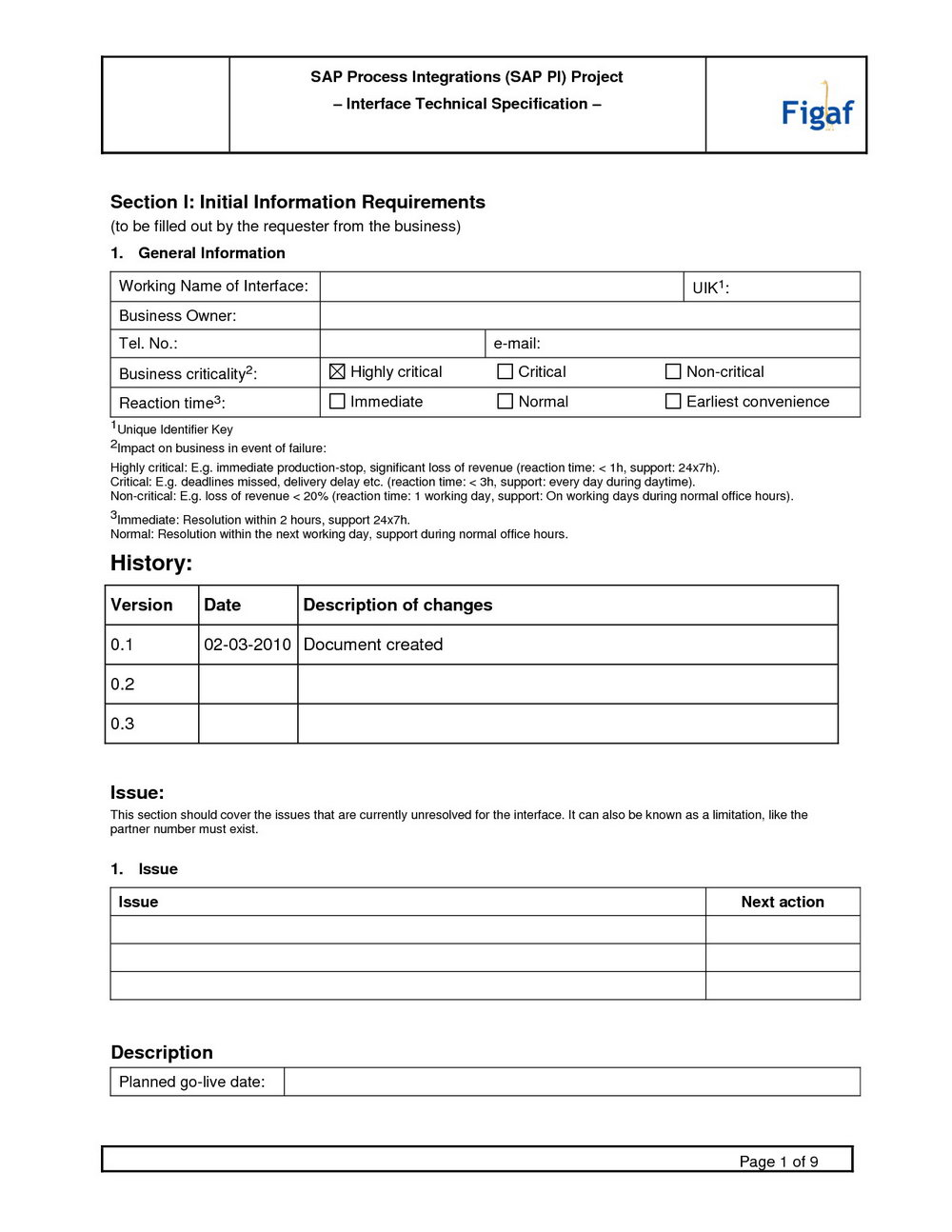software requirement specification document sample