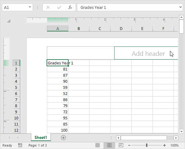 switch the current document to print layout