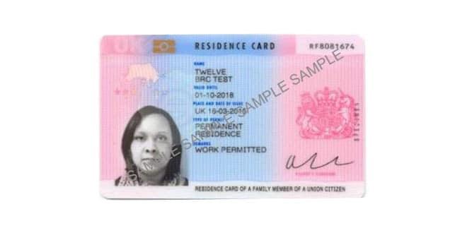 uk residence documentation number