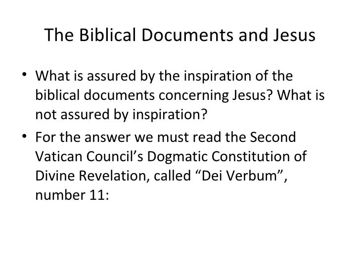 what does the document dei verbum accomplish